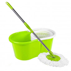 New Easy Clean Bucket Spin Mop Green